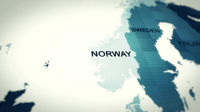 4k maps animation, world map norway - zoom effect stock videos & royalty-free footage
