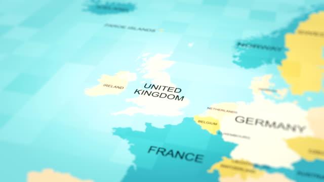 4k maps animation. world map. (united kingdom) - politics illustration stock videos & royalty-free footage
