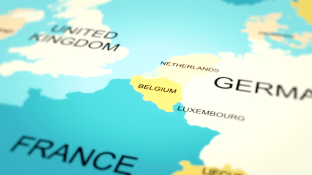 4k maps animation. world map. (belgium) - belgium stock videos & royalty-free footage
