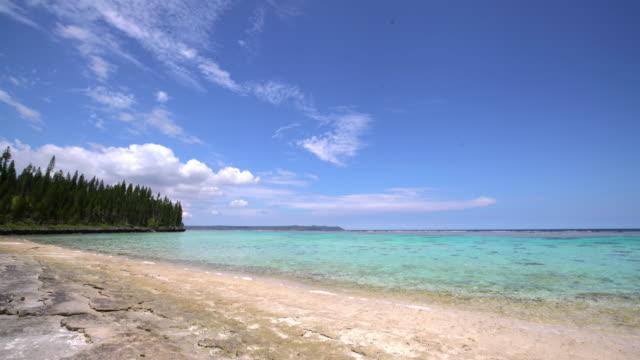 stockvideo's en b-roll-footage met maré eiland strand loyaliteitseilanden nieuw-caledonië - franse overzeese gebieden