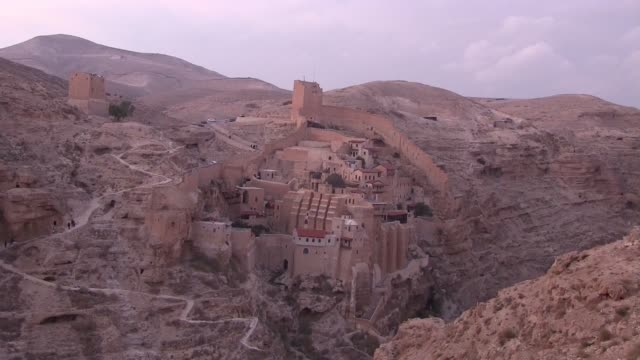 mar saba monastery - circa 5th century stock videos & royalty-free footage