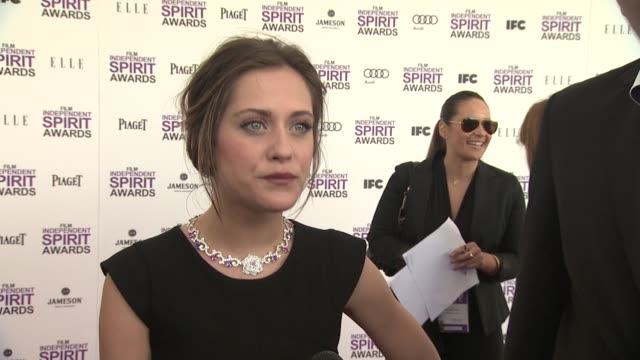 mar'a le—n on the event and piaget at piaget at the 2012 film independent spirit awards on 2/25/12 in los angeles, ca - independent feature project stock videos & royalty-free footage