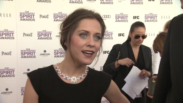 mar'a le—n on the event and piaget at piaget at the 2012 film independent spirit awards on 2/25/12 in los angeles ca - independent feature project stock videos and b-roll footage