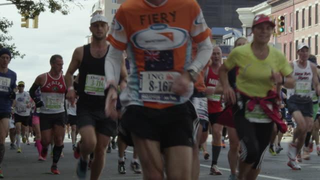 nyc marathon 2013 - marathon stock videos & royalty-free footage