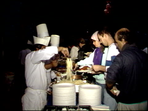 marathon carbo-load dinner at the marathon carbo-load dinner at fox studios in los angeles, california on march 5, 1988. - 20th century fox stock videos & royalty-free footage