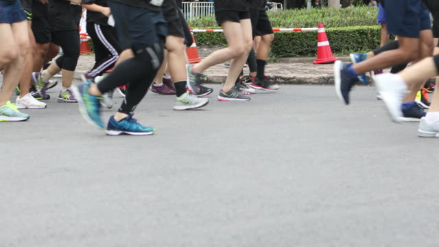 marathon feet - human leg stock videos and b-roll footage