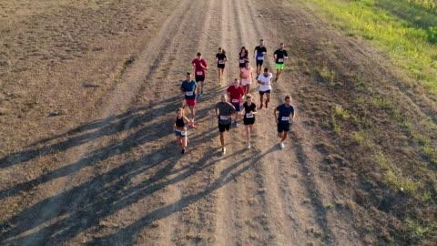 vidéos et rushes de course de marathon - événement