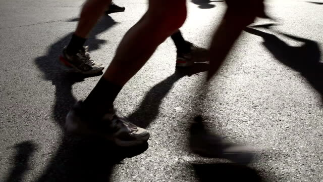 marathon running - human leg stock videos & royalty-free footage