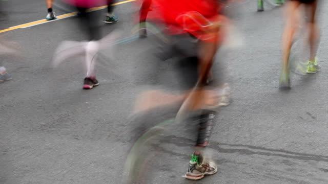marathon running - london marathon stock videos & royalty-free footage