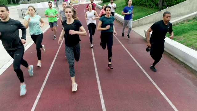 marathon team training - group of people stock videos & royalty-free footage