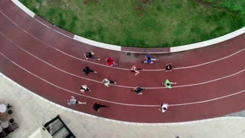 marathon team training - sports track stock videos & royalty-free footage