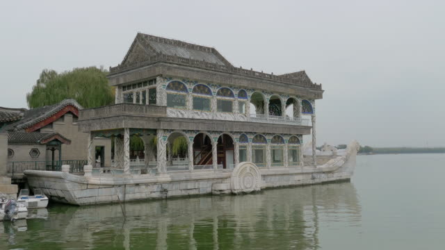 Marble Boat on Kunming Lake at Summer Palace, Beijing, China