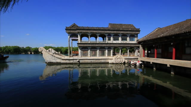 marble boat, summer palace beijing - summer palace beijing stock videos & royalty-free footage