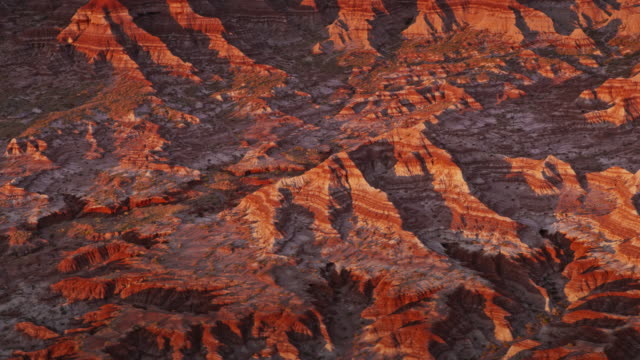 aerial marble canyon landscape at sunset - canyon stock videos & royalty-free footage