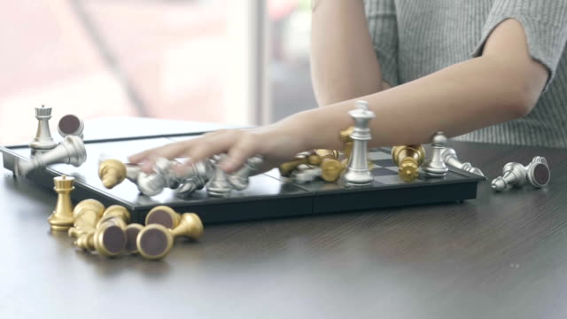 marble chess game - board game stock videos & royalty-free footage