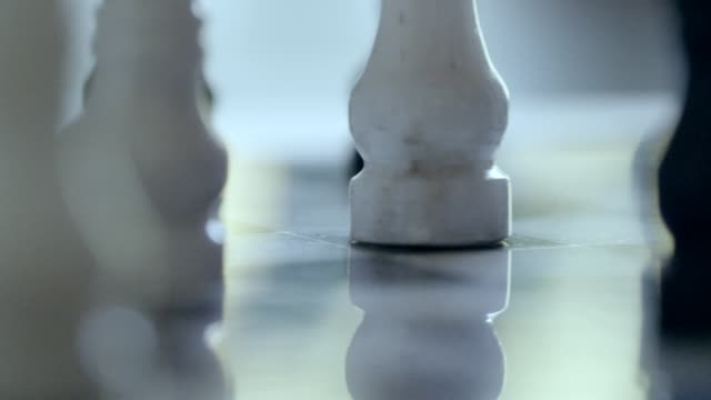 marble chess game. - chess stock videos & royalty-free footage