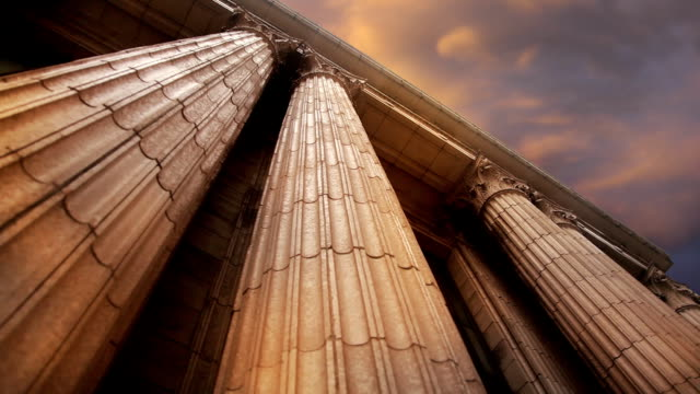 marble columns pan right to left - column stock videos & royalty-free footage