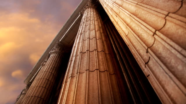 marble columns pan up - courthouse stock videos & royalty-free footage