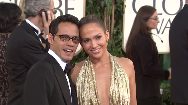 marc anthony and jennifer lopez at the 66th annual golden globe awards arrivals part 5 at los angeles ca - 2009 video stock e b–roll