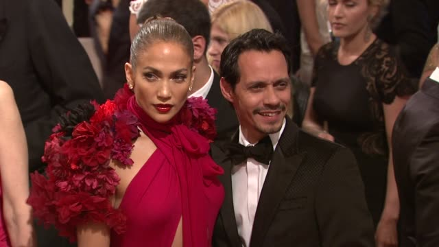 Marc Anthony and Jennifer Lopez at the 'Alexander McQueen Savage Beauty' Costume Institute Gala At The Metropolitan Museum Of Art at New York NY