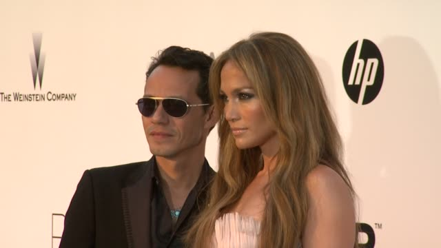 Marc Anthony and Jennifer Lopez at the amfAR Cinema Against AIDS Gala at Antibes