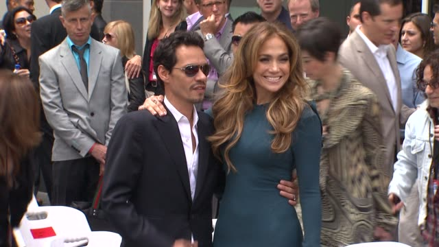 Marc Anthony and Jennifer Lopez at the Simon Fuller Honored With Star On The Hollywood Walk Of Fame at Hollywood CA