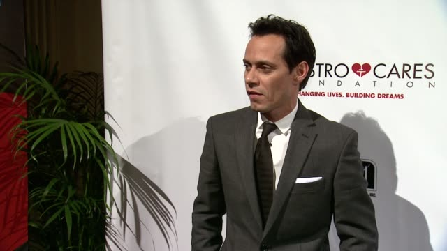 marc anthony at maestro cares first annual gala dinner - new york at cipriani, wall street on february 18, 2014 in new york city. - cipriani manhattan stock videos & royalty-free footage