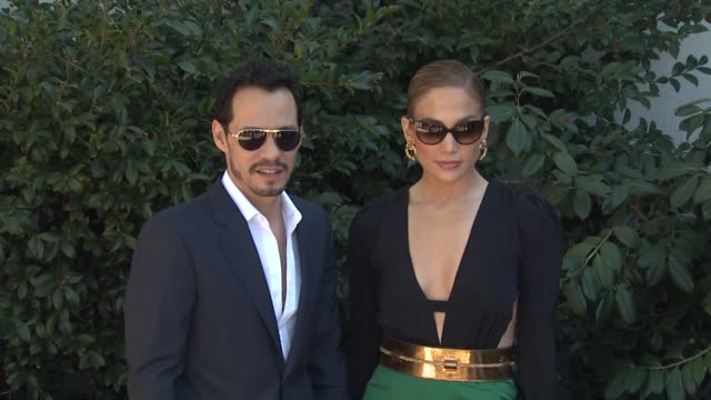 marc anthony jennifer lopez at the unicef women of compassion luncheon at los angeles ca - jennifer lopez stock videos & royalty-free footage