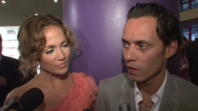 Marc Anthony on how it felt to play the role of Hector Lavoe at the 'El Cantante' New York Premiere at AMC Theatres at 42nd Street in New York New...