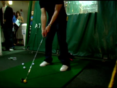 marc ecko golfing at the 4th annual tikva drive for life to benefit odessa's orphaned and abandoned children presented by ecko unltd at chelsea piers... - chelsea piers stock videos & royalty-free footage