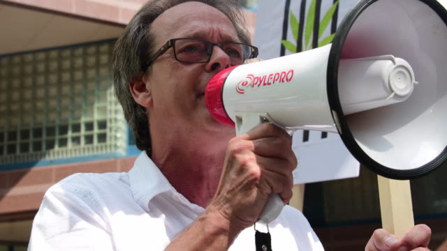 marc emery often described as the prince of pot' is a notable advocate of international cannabis policy reform project claudia comprehended police... - megaphone stock videos & royalty-free footage