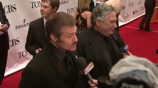 Marc Kudisch and Harvey Fierstein at the 63rd Annual Tony Awards Red Carpet at New York NY