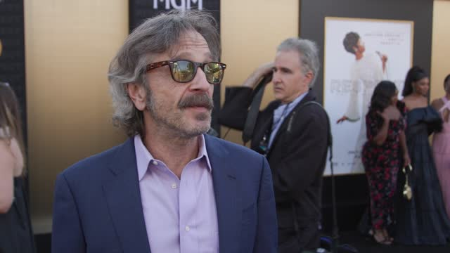 marc maron on why he wanted to be a part of this project, how his character helped aretha to find her voice and what respect means to him at the... - westwood neighborhood los angeles stock videos & royalty-free footage
