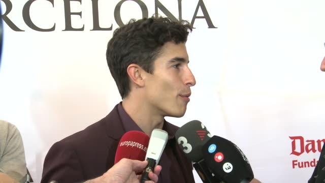 marc márquez attends sport cultura awards in barcelona - marc marquez video stock e b–roll