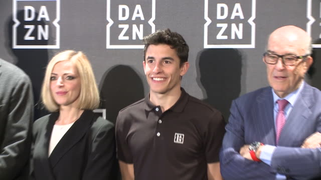 vídeos y material grabado en eventos de stock de marc márquez presents dazn, the new app of streaming for sports event. - programa de televisión