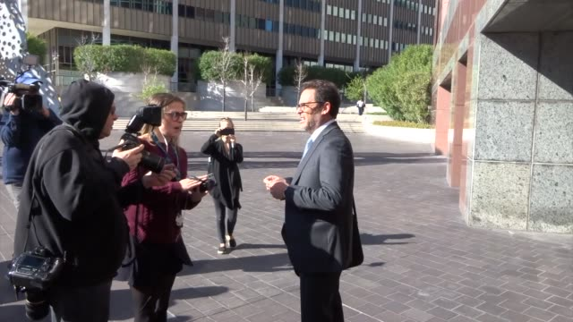 marc s harris defense lawyer for lori loughlin seen outside a federal courthouse in los angeles in celebrity sightings in los angeles - lori loughlin stock videos & royalty-free footage