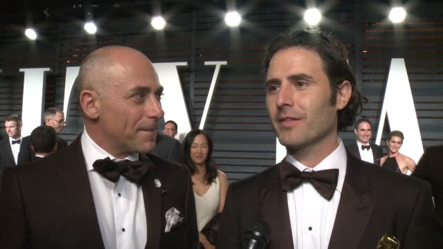 marc sondheimer and alan barillaro at 2017 vanity fair oscar party hosted by graydon carter on february 26, 2017 in beverly hills, california. - oscar party stock videos & royalty-free footage