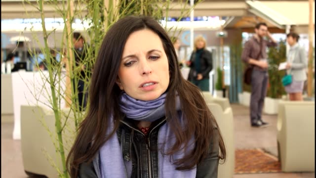 vídeos de stock e filmes b-roll de marcela said on moving from documentary filmmaking to fiction at 'el verano de los peces voladores' interviews. interview - marcela said on moving... - filme documentário