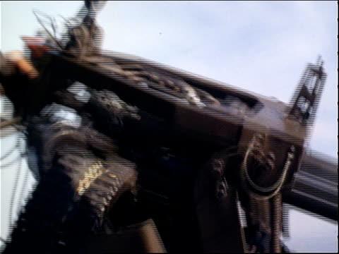march 13, 1971 soldier firing a heavy machine gun from the side of a airship on the tan son nhut air base during the vietnam war / saigon, vietnam - 1971 stock videos & royalty-free footage
