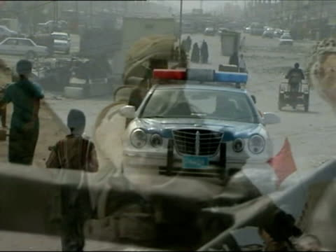 March 2007 MONTAGE DISSOLVE British troops on patrol in Basra/ Basra Iraq/ AUDIO