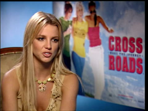 march 25 2002 ms britney spears being interviewed during the press junket for her film 'crossroads'/ london england/ audio - vest stock videos & royalty-free footage
