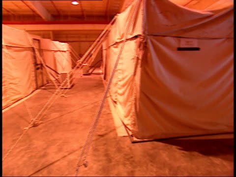 March 31 1999 PAN Tented living quarters housed inside large hangar facility in As Saliyah Army Base / Doha Qatar