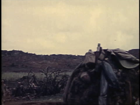 march 6, 1945 air strike on iwo jima / japan - 空爆点の映像素材/bロール