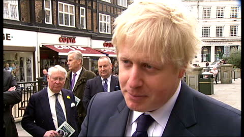 additional powers for police mooted; england: london: ext boris johnson interview sot - sad that peaceful march was marred by the activities of a... - 労働組合会議点の映像素材/bロール