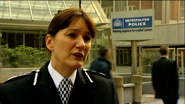 additional powers for police mooted; victoria: scotland yard: assistant commissioner lynne owens interview sot - trades union congress stock videos & royalty-free footage