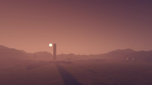火星基地 - 軍事基地点の映像素材/bロール