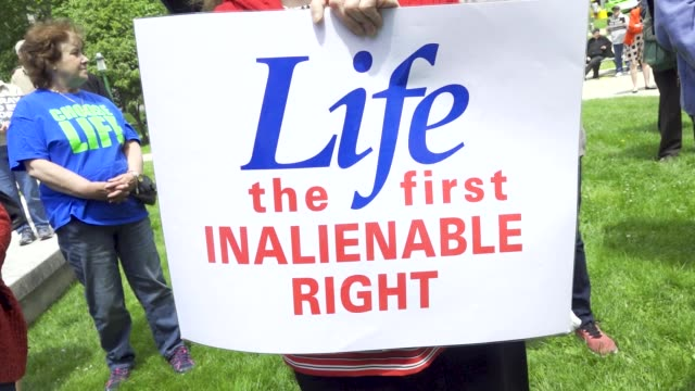 march for life ny prolife rally at the new york state capitol located in albany the capital city of the us state of new york pro life advocates... - enacting stock videos & royalty-free footage