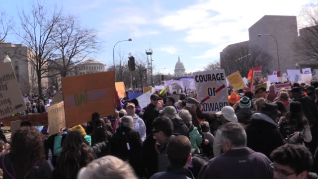 march for our lives on march 24, 2018 in washington dc, united states. - march for our lives stock videos & royalty-free footage