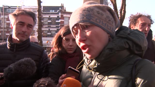 march to support nazanin zaghariratcliffe emma thompson speaking to the press and interview sot various of march / marchers along - emma thompson stock videos & royalty-free footage