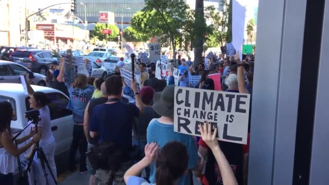 marchers starting to march from hollywood and western boulevards head to the cnn building at sunset cahuenga blvd - cnn stock videos & royalty-free footage